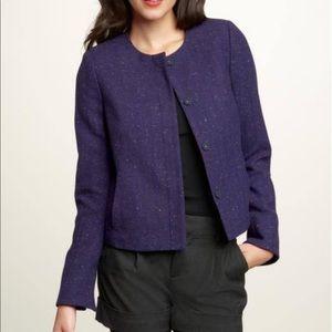 Gap Womens Tweed Collarless Button Blazer Jacket 6